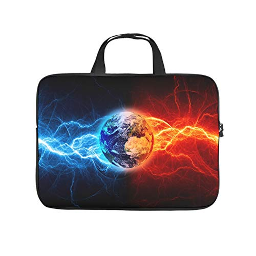 Laptop Bag Ice Fire Ball Scratch-Resistant Lightweight Laptop Bag Compatible with 13-15.6 Inch Pro