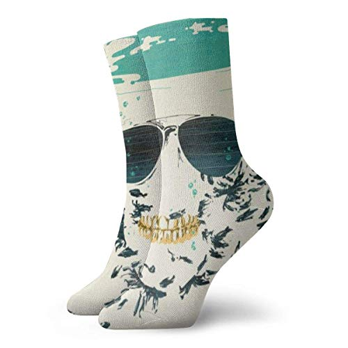 shenguang - Calcetines deportivos unisex con cojín para tobillo alto, gafas, calcetines deportivos casuales