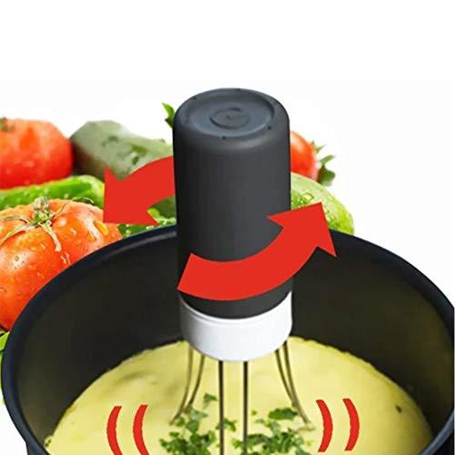 Automatischer Pfannen-Rührer, 3 Geschwindigkeiten, tragbar, Edelstahl, automatische Hände frei, Roboter, Lebensmittel-Sauce, Auto-Mixer, zum Rühren von Joghurt, Soße und Suppe in der Pfanne