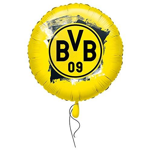 Amscan 4270001 - Folienballon BVB, Borussia Dortmund, befüllbar mit Helium oder Luft, Fan, Fußball, Party, Geschenk, Dekoration