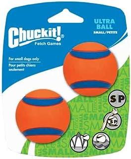 Chuckit! 17020 Ultra Ball, 2 Pelotas para Perros Compatible con el Lanzador, S