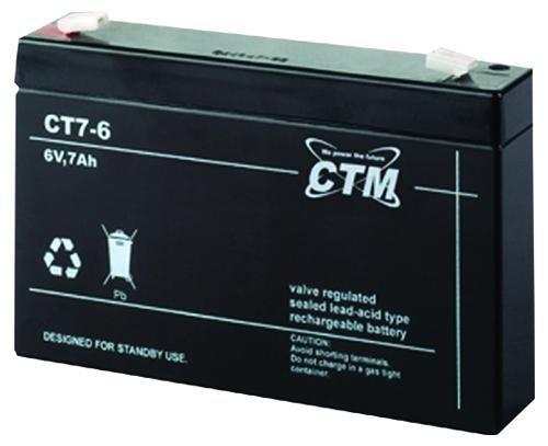 CT7-6 CTM Blei Gitter-Vließ-Batterie Bleiakku wiederaufladbar wartungsfreie Bleibatterie von CTM