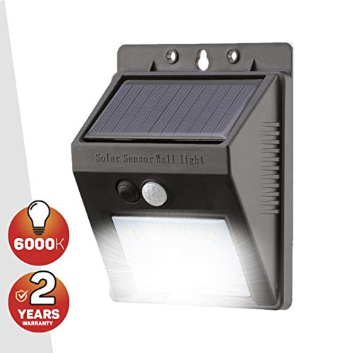 20 LED Solarbetrieben Sicherheitslicht - Solarlampen mit Eingebaut PIR Nacht und Bewegungs Sensor - Wasserfest Solar Licht (2 Jahre kostenlose Gewährleistung inklusive)
