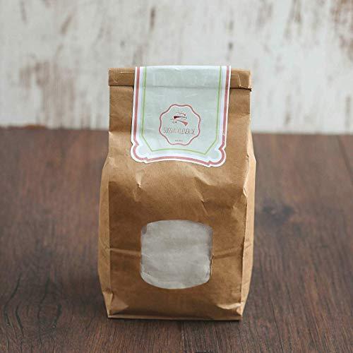 süssundclever.de® Bio Sorghum Mehl | Sorghum Hirse | 1,0 kg | plastikfrei und ökologisch-nachhaltig abgepackt