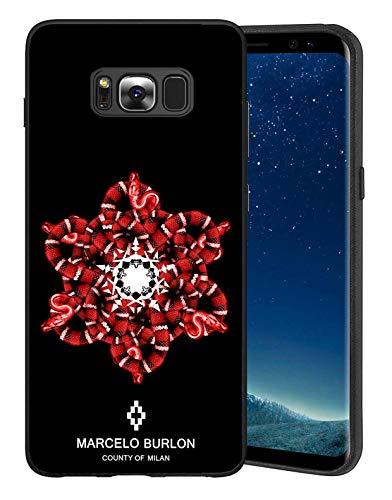Rmnbgt Marcelo Cover Samsung Galaxy S8 Plus - Custodia Samsung Galaxy S8 Plus Ultra Sottile Anti-Graffio Caso della Copertura Protettiva in TPU per Samsung Galaxy S8 Plus - Marcelo Snake