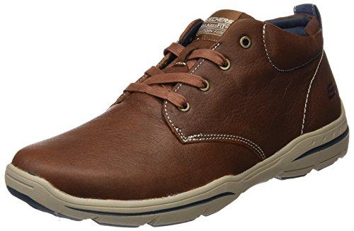 Skechers Harper-Melden, Zapatillas de Deporte Hombre, Multicolor (Lug Black Leather), 44 EU