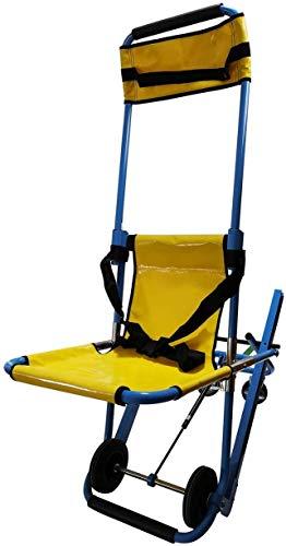 Drohneks Silla de Escalera EMS, Silla de Escalera de elevación médica para evacuación de Bomberos de Ambulancia, Silla de Escalera Ligera de Aluminio de 4 Ruedas, 350 LB