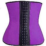 Corsés para Mujer Cuerpo de Goma Shaper para Mujer Sexy Shapewear Cintura Traisor de látex Shaper Burning Slimming Cintura Corset Bustier Adelgazantes de Cinturón (Color : Purple, tamaño : XXXL)