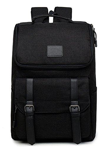 beibao shop Backpack Sacs à Dos pour Ordinateur Portable Hommes Loisirs Tissu Oxford Respirant Fardeau Épaule Extérieur Multi-Fonctionnel Sac à Dos d'ordinateur, Black