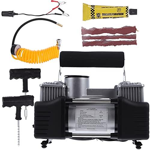 VICASKY 1 Juego de Inflador de Neumáticos de Coche Portátil Vehículo Auto Bomba Eléctrica Compresor de Aire 170W