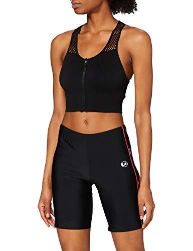 Ultrasport Pantaloncini da Corsa Pantalón Corto, Mujer, Negro/Duberry, XL