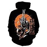 Cosplay Anime Sweater Hoodie,Dragon Ball Super Saiyan Monkey King 3D Printed Hoodie, Unisex Sweatshirt-We-1380_L