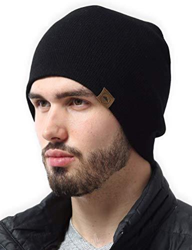 Daily Knit Beanie by Tough Headwear - Warm, Stretchy & Soft Beanie Hats for Men...