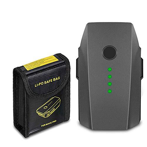 JYJZPB Mavic Pro 3830mAh LiPo Intelligent Flight Replacement Battery and Battery Safe Bag Compatible for DJI Mavic Pro, DJI Mavic Pro Platinum, DJI Mavic Pro White [NOT Fit for Mavic 2]