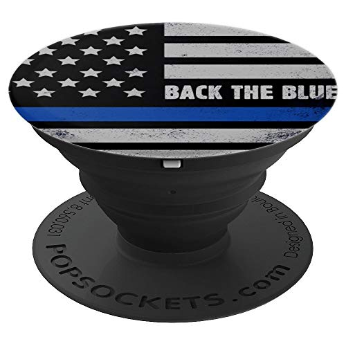Back the Blue USA flag PopSockets Grip and Stand for Phones and Tablets