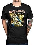Tee Shack Iron Maiden Piece of Mind Steve Harris Oficial Camiseta para Hombre (Small)