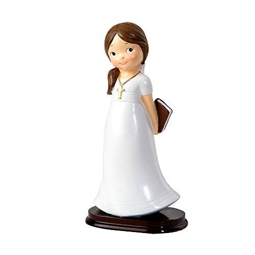 Mopec Y927 Figura de Pastel para comunión, Resina, Blanco, 6.5 x 9.6 x 16.5 cm