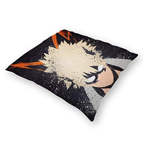 Funda de almohada de lino Anime Bakugo Repeat8032 de 45 x 45 cm, funda de almohada cuadrada de algodón y lino