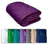 Microfaser Sommer Steppbett 135x200 OekoTex – lila violett Kochfest 95° Leichtsteppbett für Camping und heiße Tage I ohne Bezug verwendbar I farbig & bunt
