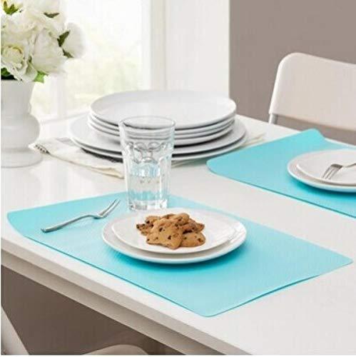 Tafelkleed, vuilafstotend, watervast, kleur bonbon, creatief, antislip, waterbestendig, lademat, thermo-isolatietafel, pad coaster plate pad, 4-delige set