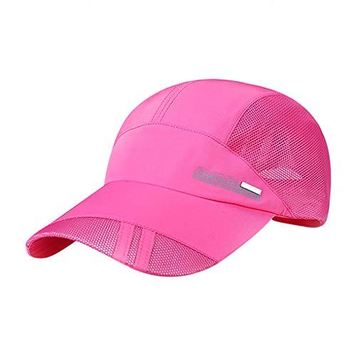 YSXY Mesh Baseball Cap Golf Tennis Kappe Sonnenhut Freizeit UV-Schutz-Kappe Einstellbare Atmungsaktives Sommerhut Sonnencap Schnell Trocknende Wandermütze fur Herren Damen