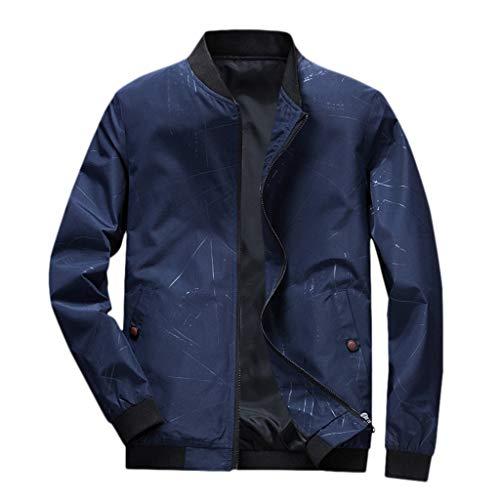 KPILP Herren Jacke Bomberjacke Piloten Jacket für Winter Herbst Casual Windbreaker Übergangsjacke Reißverschluss Wintermantel Sportkleidung Freizeitjacke