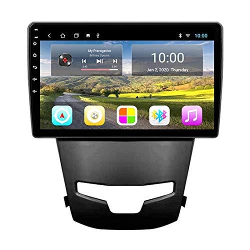 WY-CAR Unidad Principal Estéreo De Radio De Coche Android 8.1 De 9 Pulgadas para SsangYong Korando 3 Actyon 2 2014-2016, Navegación GPS/Bluetooth/FM/RDS/Control del Volante/Cámara Trasera