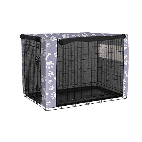 TUYU 1910FCZ0101Y04 - Funda para Jaula de Perro Resistente al Polvo con poliéster, Resistente al Viento, para protección Interior y Exterior, Ajuste Universal para Mascotas