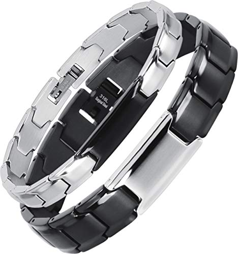 Smarter LifeStyle Elegant Couples His and Hers Distance Bracelets, Surgical Grade Steel (Matching Set (His & Hers))