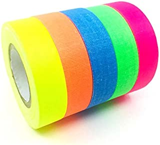 Gaffer Power Spike Tape - Premium Grid and Line Striping Adhesive Tape | Art Tape| Pinstripe Tape for Floors, Stages, Sets, Metal | 5 Colors - Blue, Red, Green, Yellow,