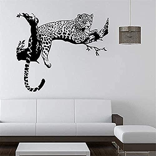 Black Wild Leopard Pattern Sitio para niños Pegatinas de pared para la decoración del hogar Sala de estar Sofá TV Fondo Arte removible Cartel