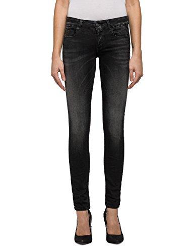 Replay Damen Rose Slim Jeans, Schwarz (Black Denim 9), W30/L32 (Herstellergröße: 30)