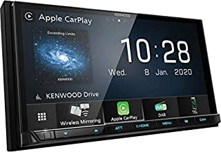 Kenwood DMX8020DABS 17,7 cm WVGA Digital Media Moniceiver mit DAB+, Wireless CarPlay, Android Auto, Wireless Android Mirroring, WiFi, Dual-USB, HI-Res Audio, kapazitiver Touchscreen (B088XV7JWY)   Amazon price tracker / tracking, Amazon price history charts, Amazon price watches, Amazon price drop alerts