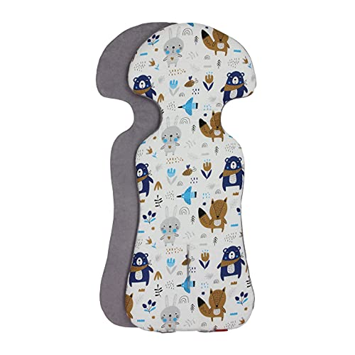 ByBoom Basics imbottitura per il seggiolino del bebè, 77x32 cm, per ovetto, passeggino, buggy, p.es. per Maxi-Cosi, Inglesina, Chicco, Peg...