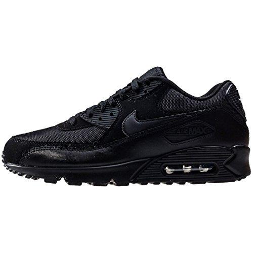 Nike Air MAX 90 Essential, Zapatillas de Gimnasia Hombre, Negro (Black/Black-Black-Black), 45 EU