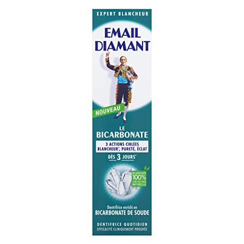 Email Diamant Bicarbonate Dentifrice Enrichi en Bicarbonate de Soude Blancheur, Pureté/Éclat dès 3 Jours, 75 ml