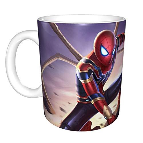 American Comics Spider-Verse The Amazing Spider-Man Vengadores 3 Infinity War Fantástica taza de chocolate de cerámica para oficina y hogar