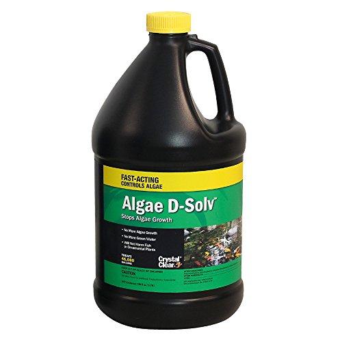 Crystal Clear Algae D-Solv - EPA Registered Algaecide - 1 Gallon Treats 46,080 Gallons