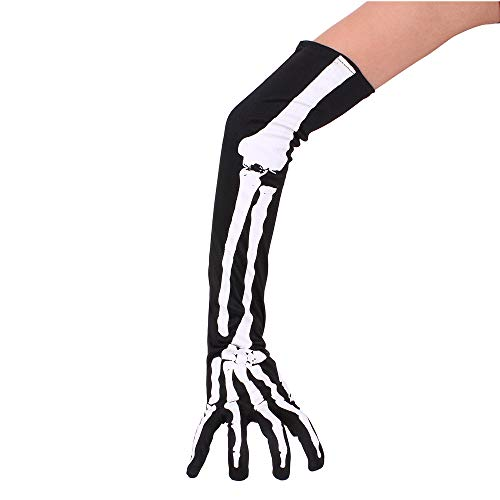 JenNiFer Lange Hand Ärmel Knochen Handschuhe Halloween Cosplay Requisiten