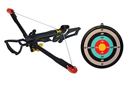 Eva Shop® Stark Premium Compound - Juego de ballesta infantil (35 kg, incluye 5 flechas, ventosa, soporte para flechas y diana para niños a partir de 6 años)