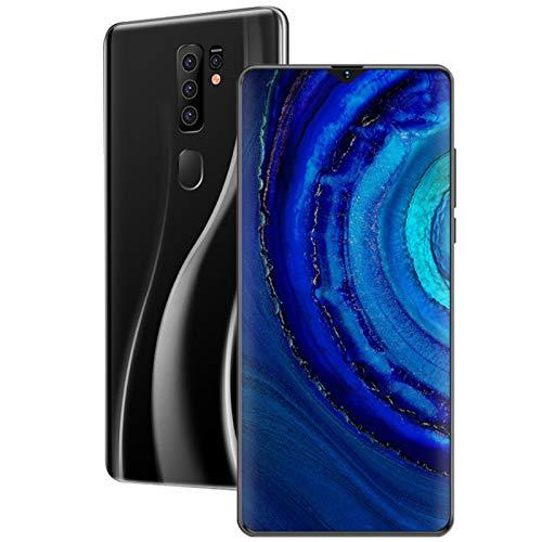 LINGZE Smartphones 4G, teléfonos móviles sin SIM y desbloqueados con batería Grande de 5800 mAh, Pantalla Completa de 7,0 Pulgadas, Huella Digital, Cara desbloqueada - Negro