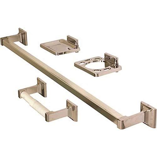 ProPlus 552207 552207 - Juego de baño (4 piezas, tornillos ocultos, chapado en cromo)