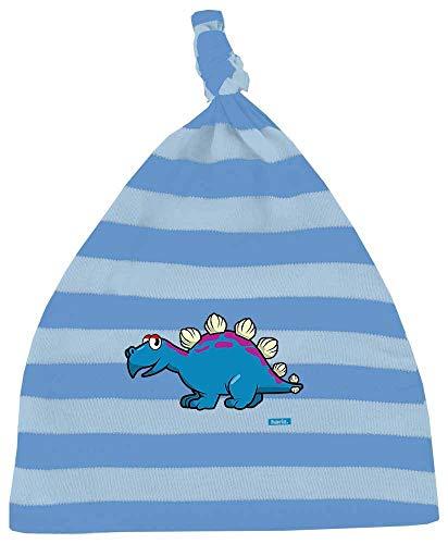 Hariz - Gorro para beb, diseo de rayas y dinosaurios T-Rex, con tarjeta de regalo azul cielo claro