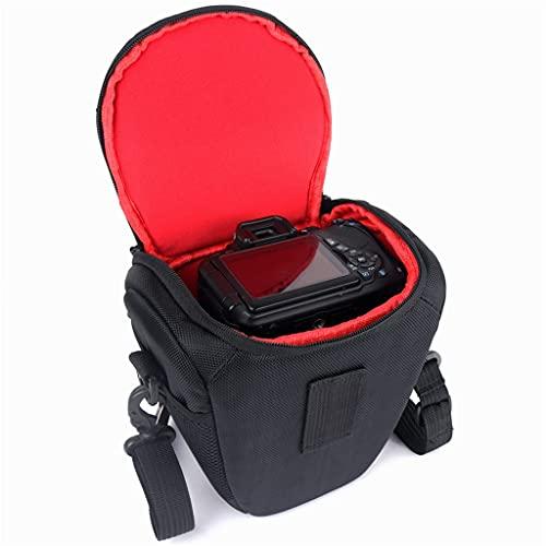 RYSF Funda Impermeable para cámara DSLR, Funda fotográfica para Nikon DSLR D3400 D90 D750 D5600 D5300 D5100 D5200 D7000 D7100 D7200 D3100 D3200 D3300 (Color : Black, Size : 17cm x 13cm x 20cm)