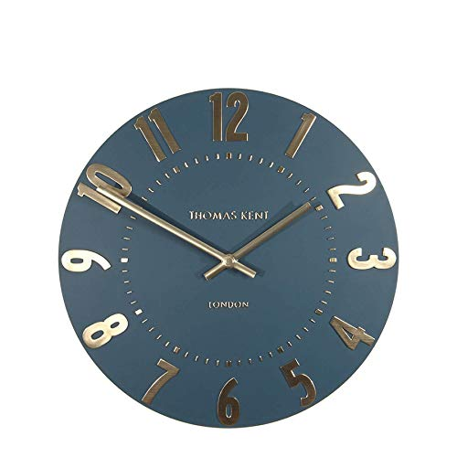 "Thomas Kent London Mulberry 12"" Wall Clock - Midnight Blue"