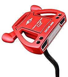small Lake Cook Golf Limited Edition Silver SR500 Putter, Red, 35 ″
