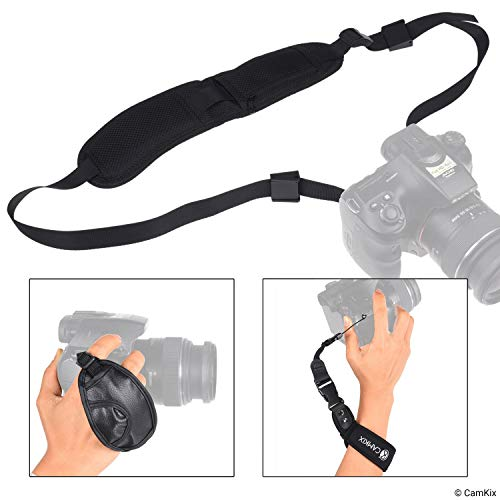 CamKix adapter set – bevestig je telefoon of GoPro Hero aan de flitshouder van je camera – teken je fotosessie op – gebruik telefoonapps voor verlichting/besturing, Lus + pols en polsband bundel.