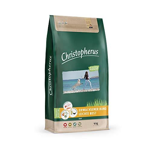 Christopherus Light, Vollnahrung für den ausgewachsenen Hund mit Übergewicht oder geringer Aktivität, Trockenfutter, Geflügel, Reis, Gerste, Krokettengröße ca. 1 cm, Ausgewachsener Hund, 4 kg
