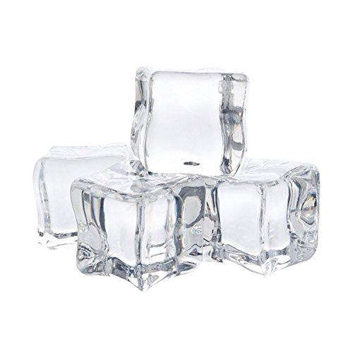 12pcs/2cm acrílico transparente hielo Cubos de Rock para jarrón de regalo y decoración de mesa