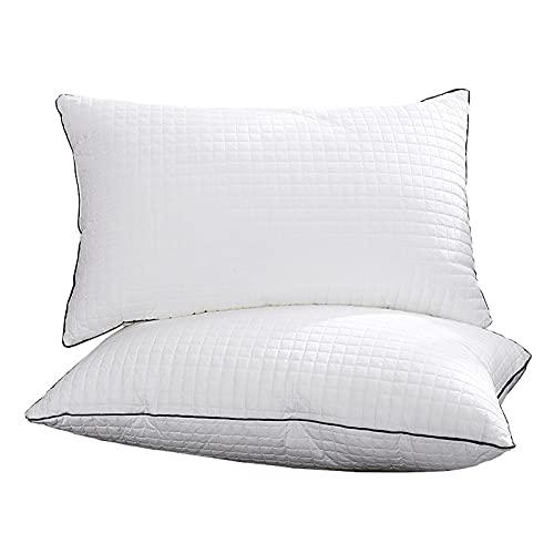 SKYGC Almohadas de Cama para Dormir, Paquete de 2, Almohada Hipoalergénica con Cómodo Soporte Almohada Alternativa de Plumón para El Lado y El Dorso, 48x74cm Blanco